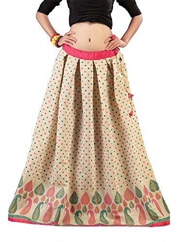 Skirt Women Handicrfats Export Chanderi Admyrin Indian Cream xP8AYvwp