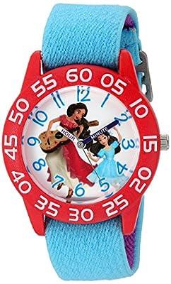Disney Girl's 'Elena of Avalor' Quartz Plastic and Nylon Watch, Color:Blue (Model: W003032) from eWatchFactory