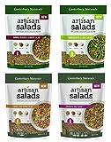 Canterbury Naturals Artisan Salad Ancient Grain Sampler 6-Pack (1 Freekeh/ 2 Farro/ 2 Quinoa Sesame Ginger/ 1 Quinoa Basil Lime)