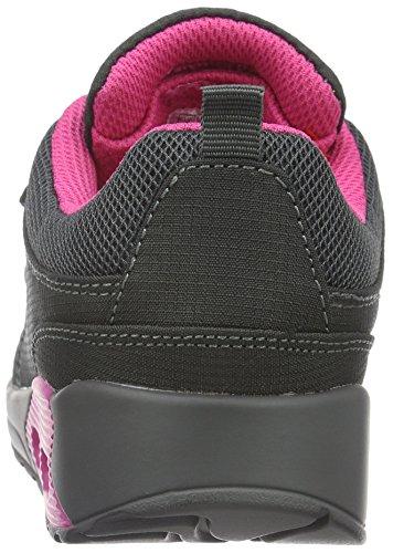 KangaROOS Kanga X 2000 V - Zapatillas Unisex Niños Gris - Grau (Dk Grey/Magenta 261)