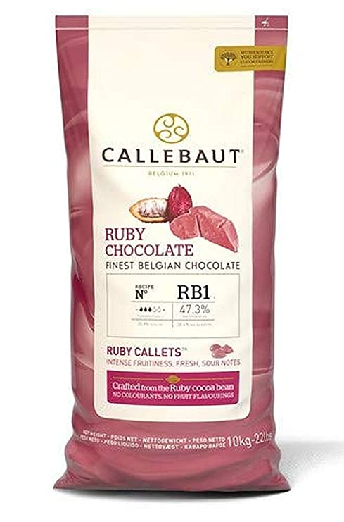 Ruby – Chocolate rosa (47,3%), Callets Couverture, 10 kg