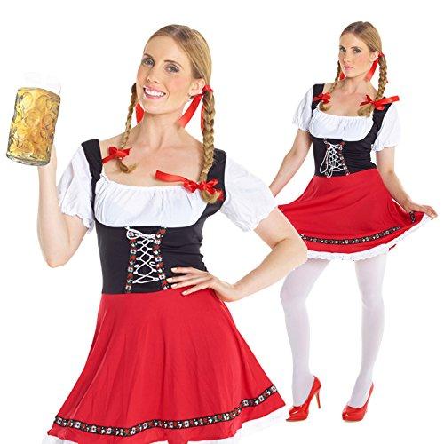 Womens Dirndl German Lederhosen Oktoberfest Costume Costume (German Fancy Dress Ladies)