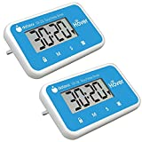 The Miracle Hover Kitchen Timer - Touchless Digital Countdown Timer, Hands-Free Control, Set of 2 Blue