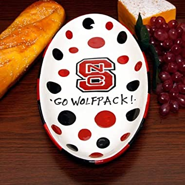 NCAA North Carolina State Wolfpack Ceramic Oval Platter