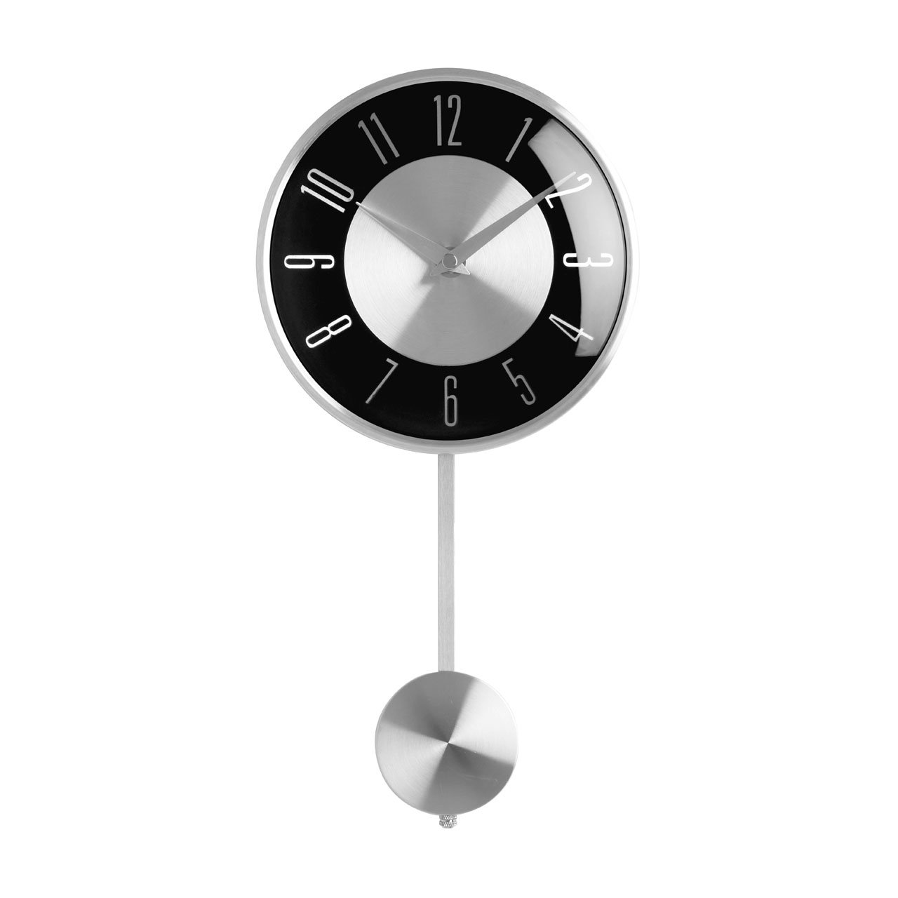 New Retro Black And Silver Pendulum Wall Clock Amazon
