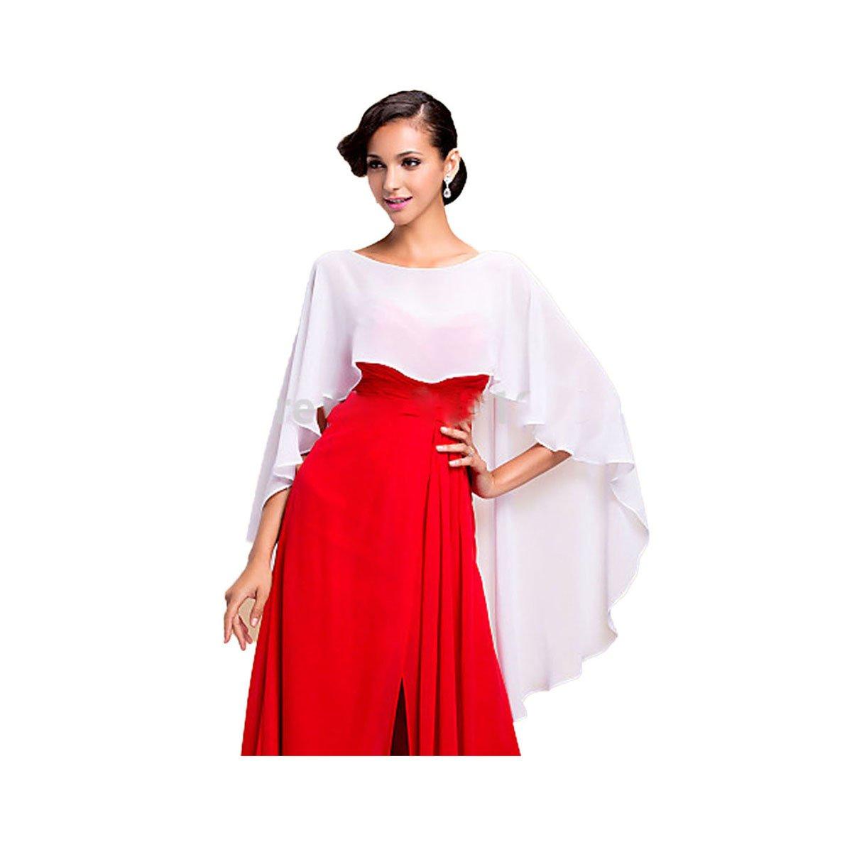 CoCogirls Chiffon Stola Schal für Kleider in verschiedenen Farben zu jedem Brautkleid - Abendkleid, Hochzeit Abend Gala Empfang Navy)