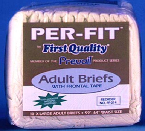 (First Quality Fqpf014Ca Prevail Per-Fit Adult Brief X-Large 59