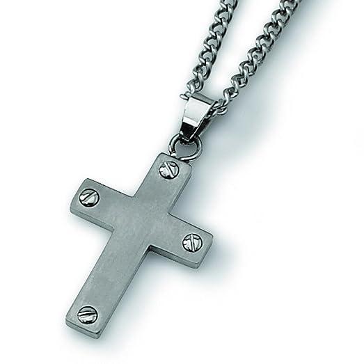 Amazon titanium cross necklace 22 inch chain necklaces titanium cross necklace 22 inch aloadofball Images