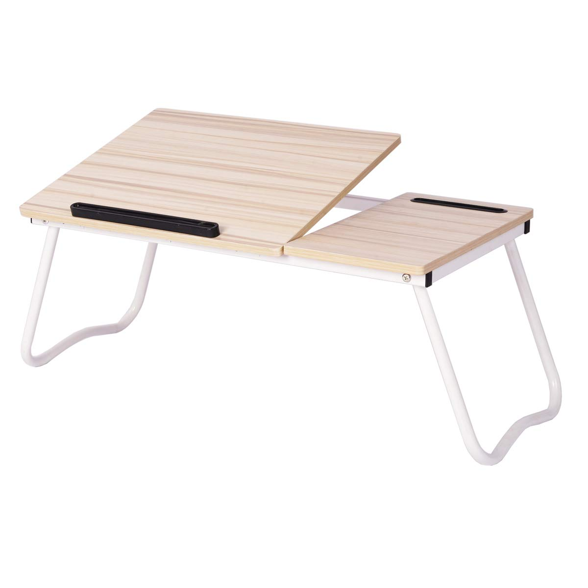 Penck Laptop Tray Desk Adjustable Lap Table Bed Tray Portable TV Tray Floor Table - Foldable Sofa Breakfast Serving Standing Tray, Notebook Stand Reading Writing Holder for Couch Floor - Minitable