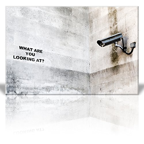 Print What are you looking at? Street Art Surveillance Camera Guerilla Banksy Street Artwork
