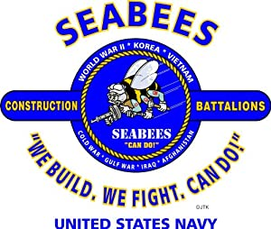 Seabees U.s. Navy 3'x5' 2pl Polyester 1-sided Indoor 4 Grommet Flag from JTK AMERICANA INC