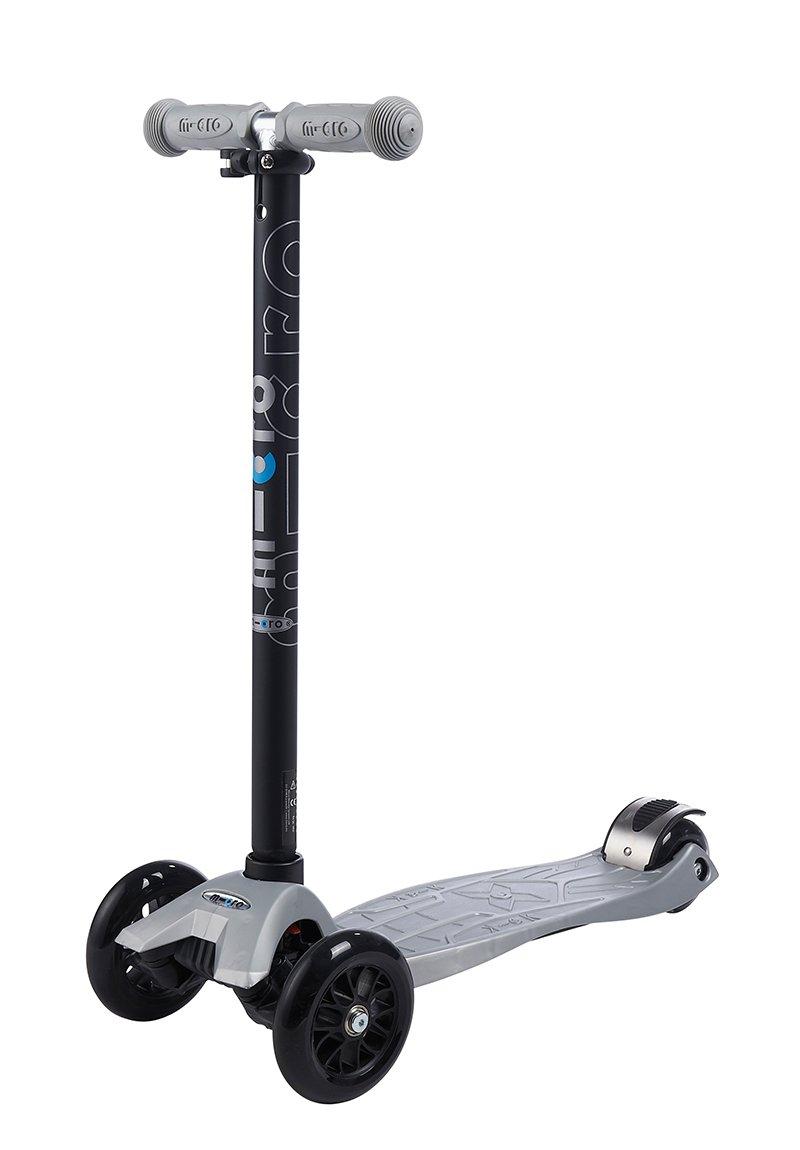 Micro Maxi Kickboard with T-Bar - Silver