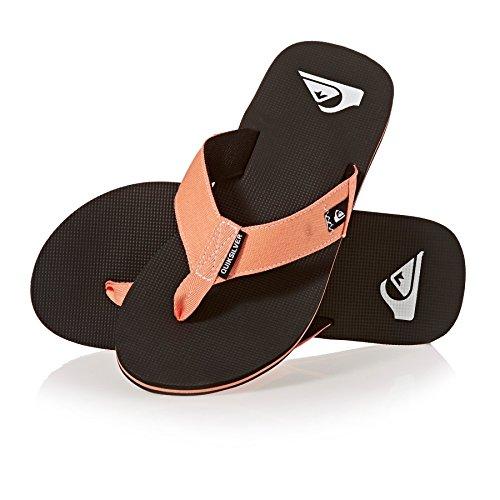 Molokai Black Orange Abyss Orange Sandals Quiksilver SwTRUP7q7