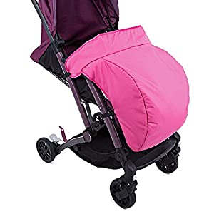 HOT Sale Universal Warm Winter Quilted Stroller Foot Muff Windshield Cover For Babies Winter Comfortable Protection For Infant (Pink Color)