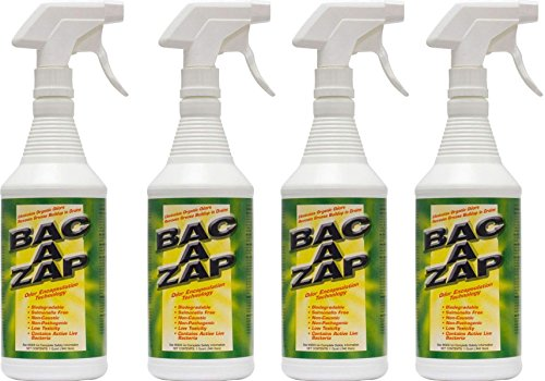 - Bac-A-Zap Odor Eliminator - Quart (4-Pack)