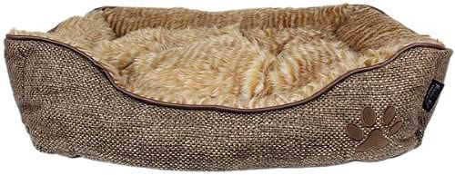 Parisian Pet Cabana Lounger Pet Bed, Brown