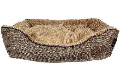 Parisian Pet Cabana Lounger Pet Bed, Brown