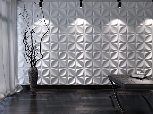Fiber Plant (3D Decorative Wall Panels/Paintable Plant Fiber Design/Textured Eco Friendly Modern Wall Decor for TV Walls/Bedroom / Living Room Sofa)