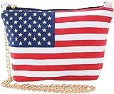 Stars And Stripes Canvas Shoulder Crossbody Bag Multicoloured