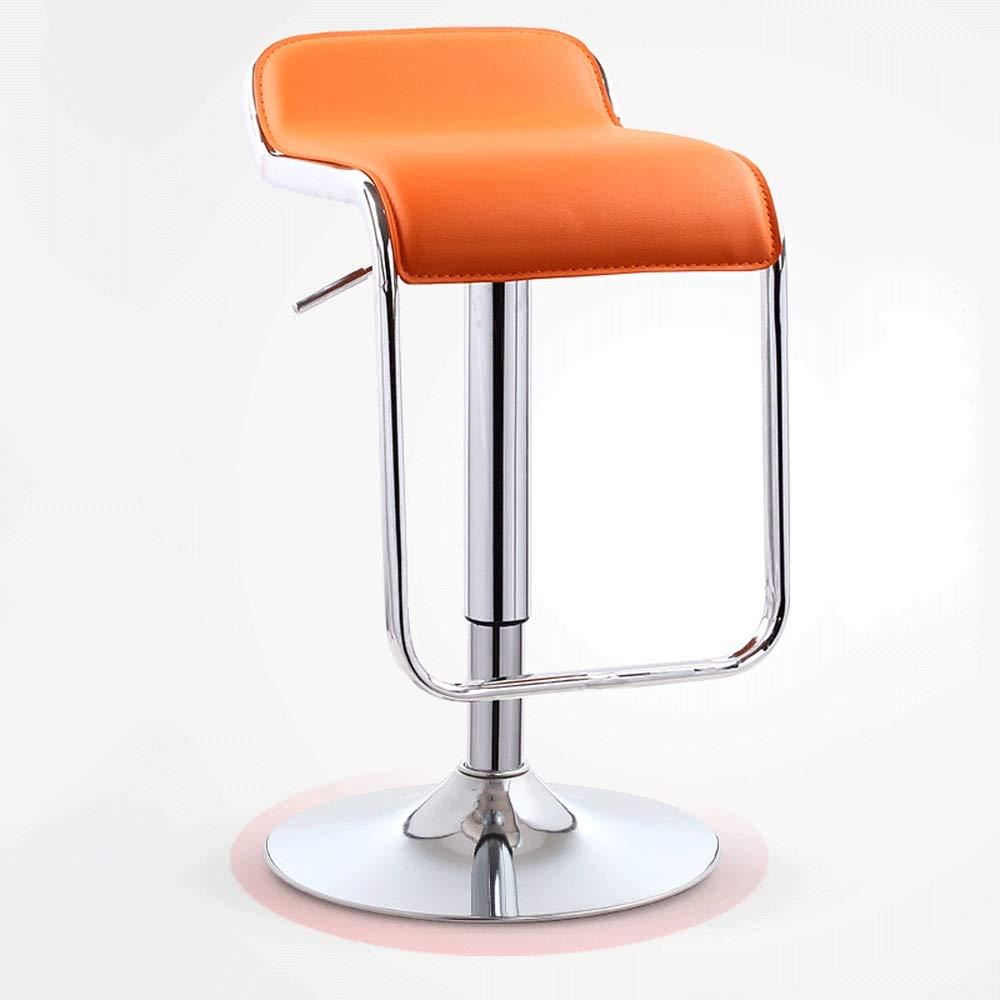 I Modern Minimalist bar Chair, redating bar Stool Adjustable PU Leather Backless Dining Chair (Black) YZPJBD (color   K)