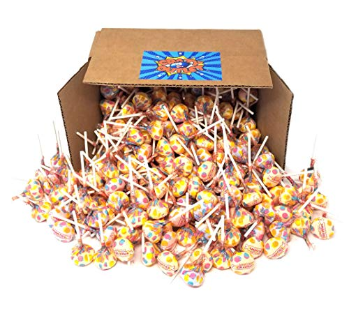 Double Lollipops - CrazyOutlet Pack - Smarties Assorted Fruit Flavored Lollipops Candy, Double Lollies Pops, Gluten-Free, Bulk Pack, 2 Lbs