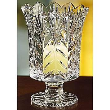 - Fifth Avenue Portico 7.5 Inch Crystal Hurricane, Candle Vase