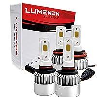 Lumenon H11 9005 HB3 LED Headlight Bulbs Combo Package (2 sets) Flip COB Chips-160W 15200LM Hi Low Beam 6000K Xenon White Light