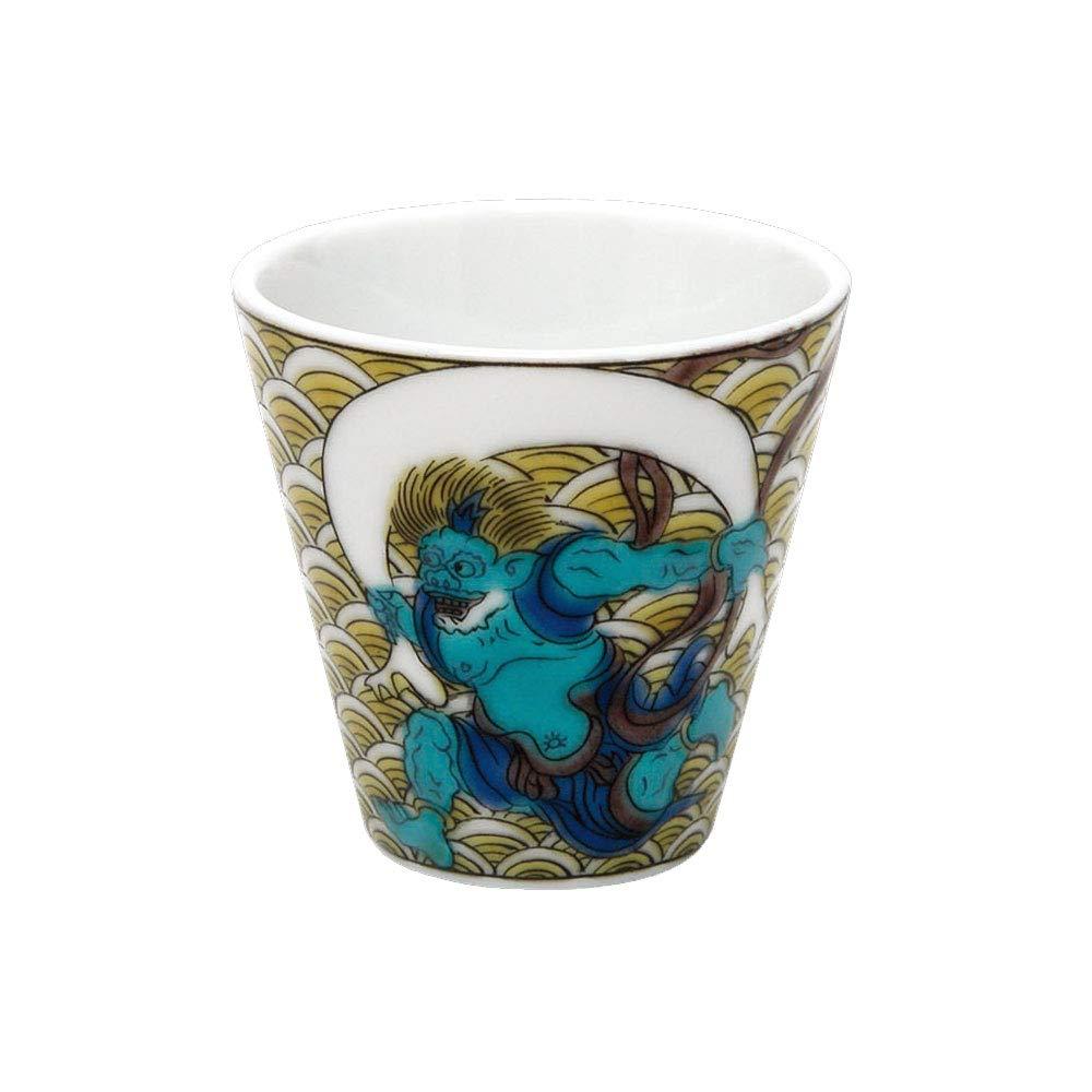Kutani Guinomi Fujin Raijin Figure luck sake cup collection NO.12 (japan import)