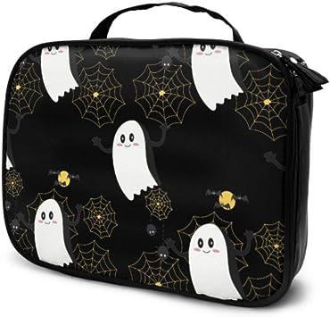 Cool Halloween Creep Fun Ghost Travel Estuche de Maquillaje para niñas Estuche de Maquillaje cosmético Bolsa de Aseo Grande para Hombres Bolsa Impresa multifunción para Mujeres: Amazon.es: Equipaje