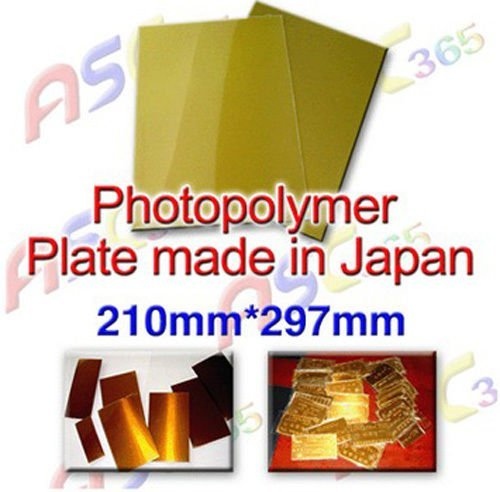 Hot Stamping Water Soluble Photopolymer A4 Plate Resin Die UV Mold