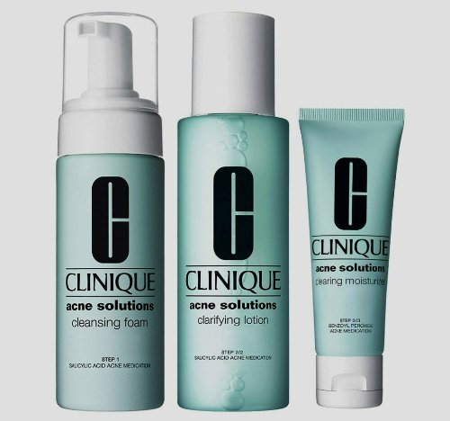 Clinique Acne Solutions 3 Steps Clear Skin System All Skin Types System *Full Size Kit*