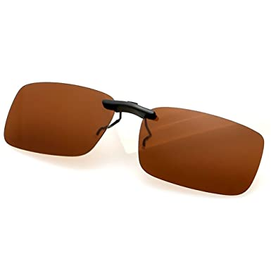 63bd2fd5cc LUFF Polarized Clip on Myopia Glasses Sunglasses for Men Shading Driving   Amazon.co.uk  Clothing