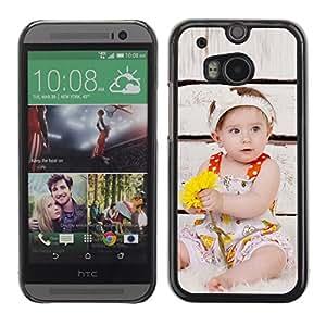 TopCaseStore / la caja del caucho duro de la cubierta de protección de la piel - Wonder Cute Kid Mother Love - HTC One M8