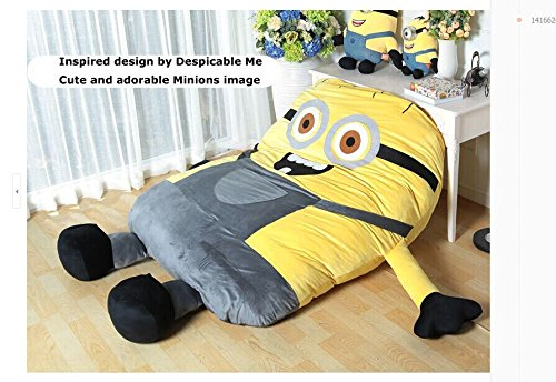 Funny Despicable Me Minions Sleeping Bag Sofa Bed Twin Bed Double Bed Mattress for Kids-ship By Express Shippment DHL by Coosplay