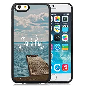 NEW Unique Custom Designed iPhone 6 4.7 Inch TPU Phone Case With Paradise Beach Dock_Black Phone Case