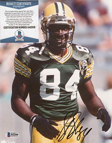 - STERLING SHARPE GREEN BAY PACKERS SIGNED AUTOGRAPHED 8X10 PHOTO BECKETT H42608