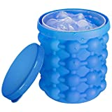 Image of Ice Cube Silicone Space Saver Ice Bucket Large Size with Lid Portable BPA Free