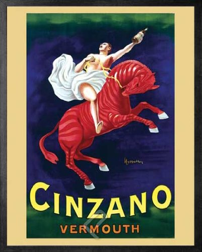cinzano-vermouth-horseman-on-the-red-horse-framed-vintage-advertising-reproduction-poster-custom-mad