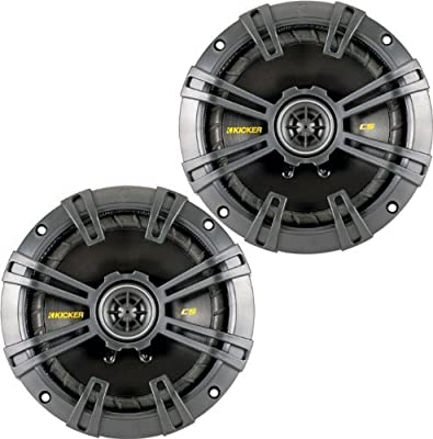 Kicker 40CS654 Pair of 6.5 300 Watt 4 Ohm Coaxial Speakers W// Grills Consumer Portable Electronics//Gadgets
