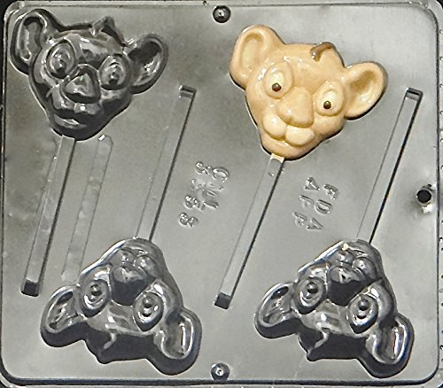 Baby Lion Lollipop Chocolate Candy Mold 3353 (3353 Chocolate)
