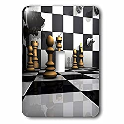 3dRose Sven Herkenrath Hobby Chess - 3D Chess Board Visualization Hobbies Sports Chess - Light Switch Covers - single toggle switch (lsp_262480_1)