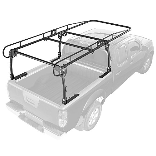 Rage Powersports UPUT-RACK-V2 Apex Contractor Pickup Truck Ladder Rack with Cab Overhang (25' Cab Height) by Rage Powersports