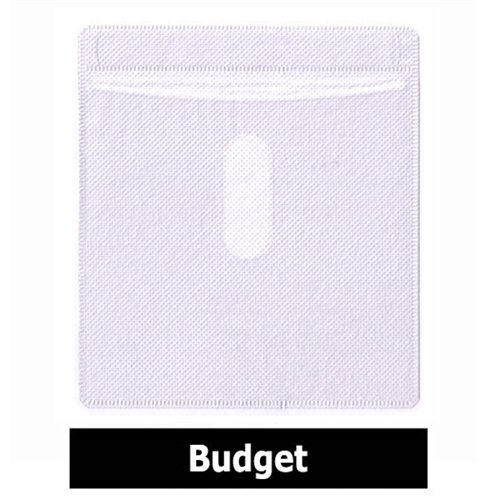 Mediaxpo Brand 10,000 CD Double-sided Plastic Sleeve White Budget
