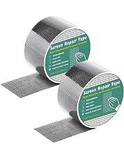 Atersala Window Screen Door Repair Kit Extra Strong Self Adhesive Waterproof Fiberglass Cloth Mesh Tape