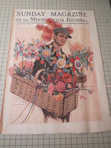 1911 Sunday Magazine of the Minneapolis Journal: Balloon & Flower Man - Rudyard Kipling Story - Baseball: Diamond Disputes By Umpire Billy Evans