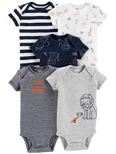 - Carter's Baby Boys 5 Pack Bodysuit Set (Roar, 3 Months)