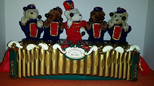 Vintage Mr.Christmas BandStand BEAR ON A REAL XYLOPHONE (Bears Bandstand)