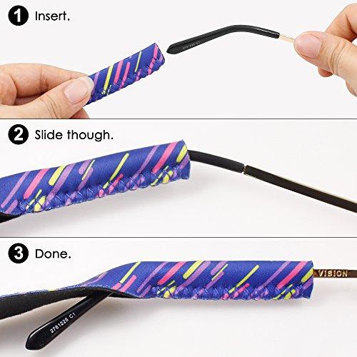Retenedor Deportes y de de Sol Gafas Soporte Actividades Sistema Exterior Púrpura Ideal Retención Universal para de de Correa Gafas de IHUIXINHE Eyewear 5x4qnTa