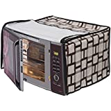 Dream Care Vinyl Checked Convection Printed Microwave Oven Cover 30FRC2 for IFB 30L (Multicolour)