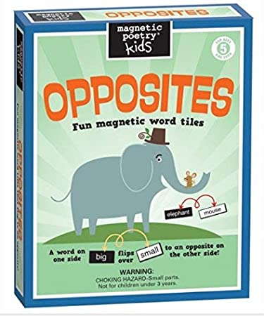 Magnetic Poetry ~ Kids' OPPOSITES ~ Fun Magnetic Word Tiles: Amazon.co.uk:  Toys & Games